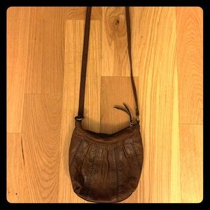Brown Leather FOSSIL Crossbody Bag